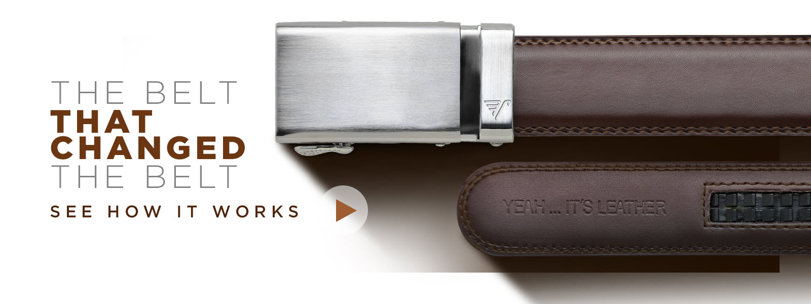 belt with silver buckle - click to watch video on how the Mission Belt works