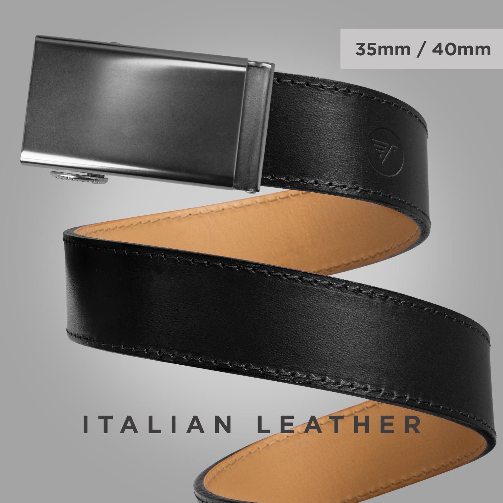 Italian Leather Belt - click image to view the italian leather 35mm and 40mm collection