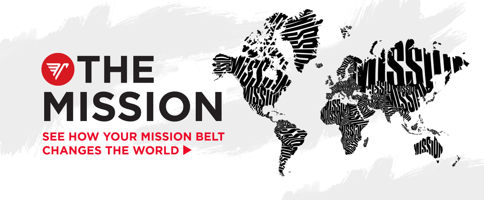 "World map with the world ""Mission"" filling in the countries - Click to read about Mission Belt's philanthropic efforts"