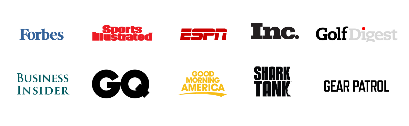 List of media and publication companies Mission Belt has been featured in - Forbes, Sports Illustrated, ESPN, Inc., Golf Digest, Business Insider, GQ, Good Morning America, Shark Tank, Gear Patrol