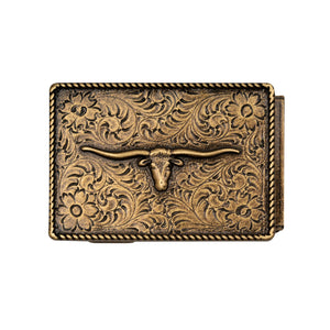 Mission Belt Buckle with longhorn bull