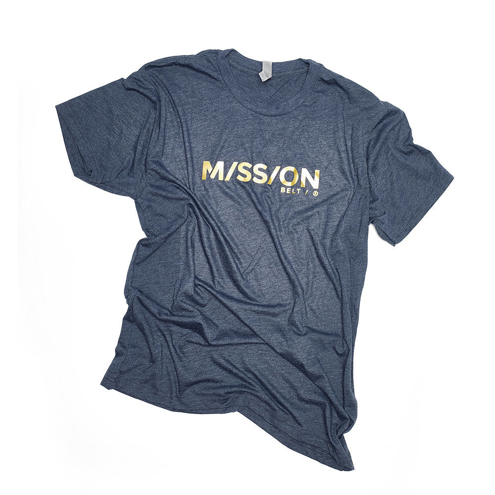 Mission Shirt, Blue / Gold