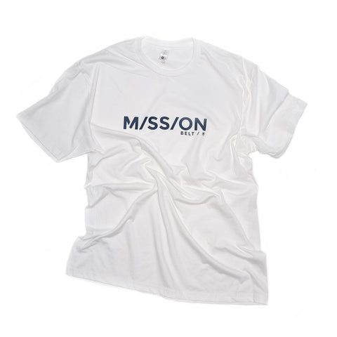 Mission Shirt, White / Blue