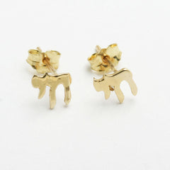 14k Chai Stud Earrings