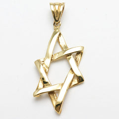 Mens gold star of David