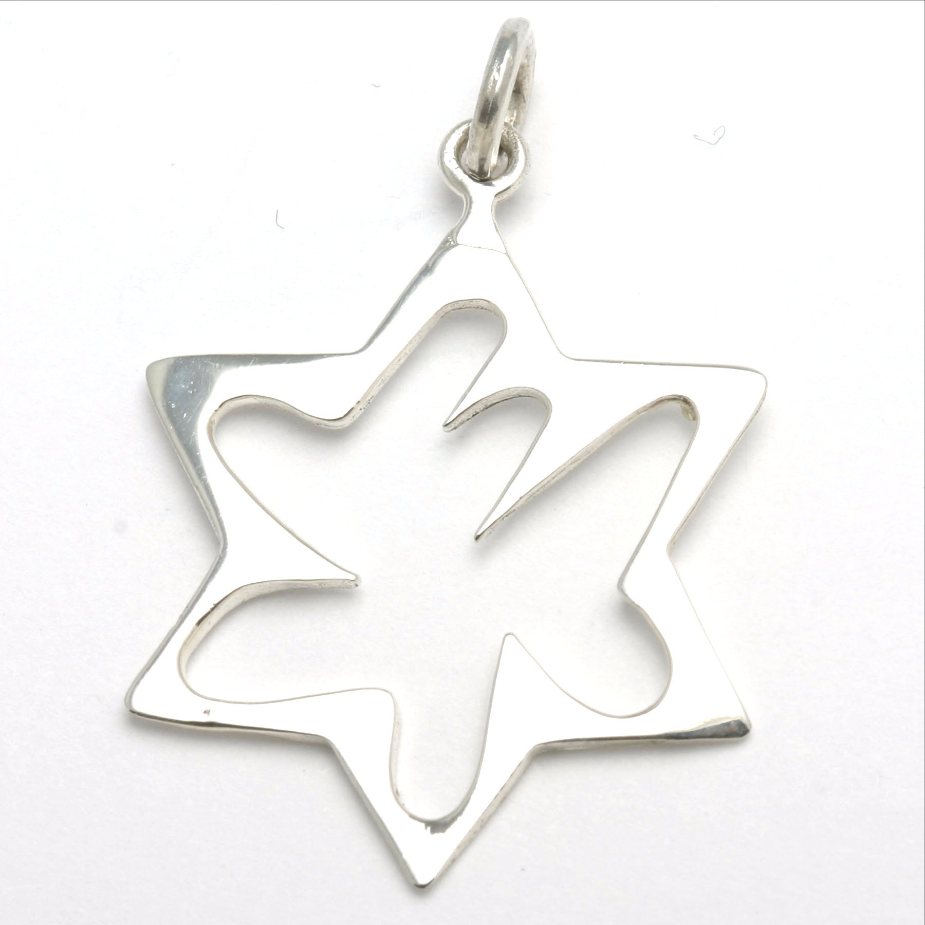 Sterling silver jewish star of david abstract chai pendant sterling silver jewish star of david abstract chai pendant jewelryjudaica aloadofball Images