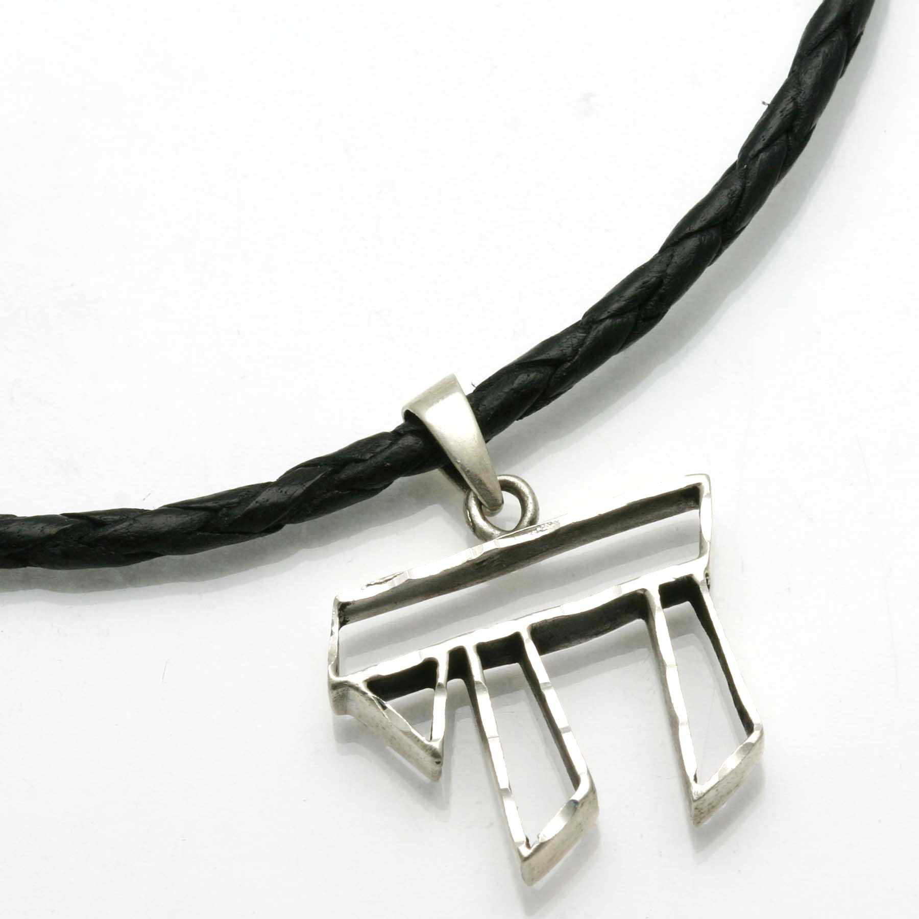 image bennett amp steel fred w necklace leather stainless bead black ip