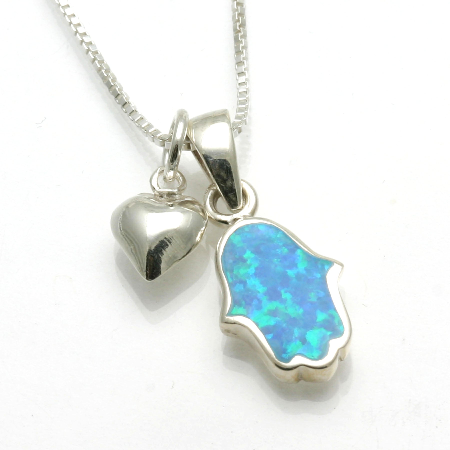 Smooth Opalite Pendant on Sterling Silver Chain Opalite Sterling Silver Necklace