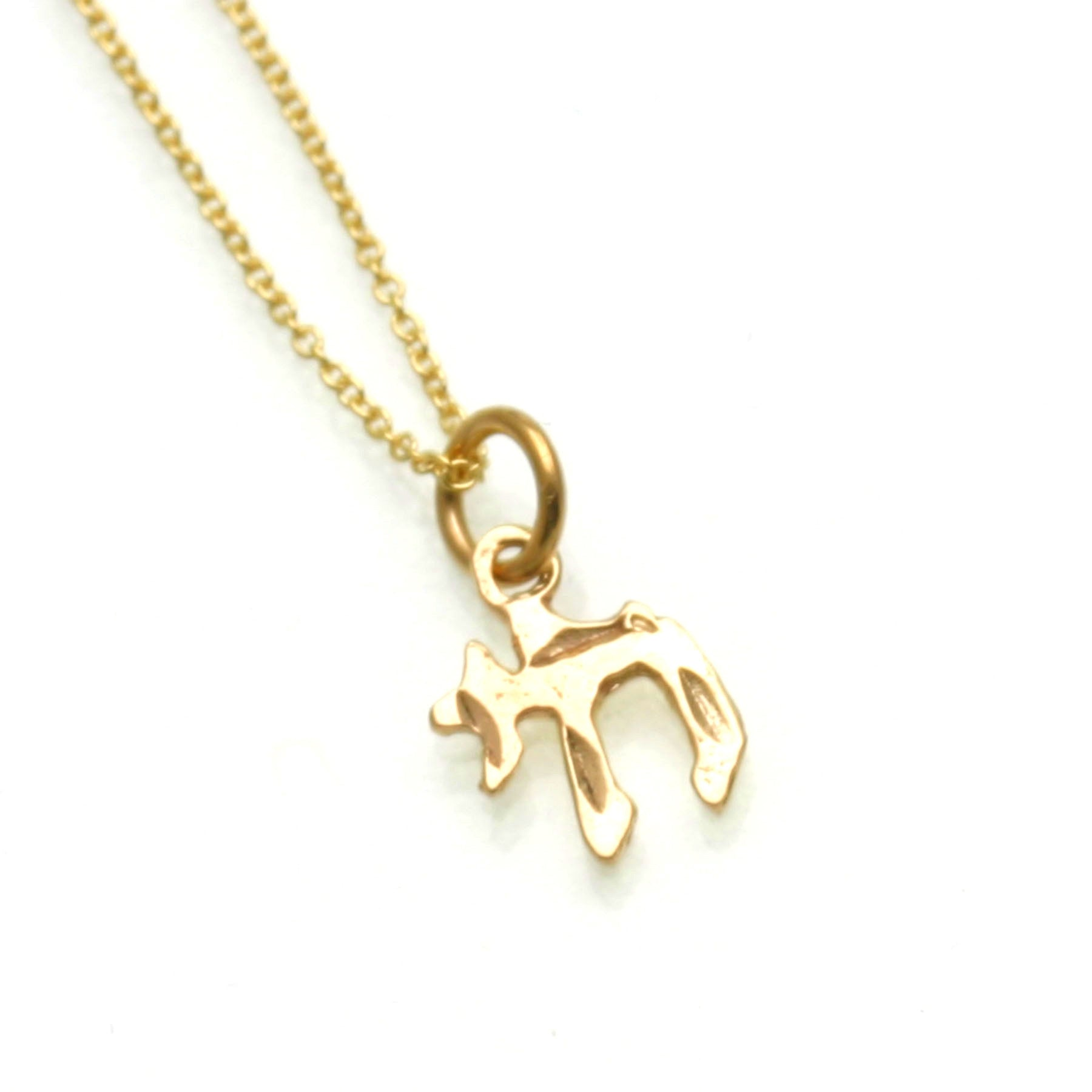 solid pendant gold pin large chai thick yellow pendants