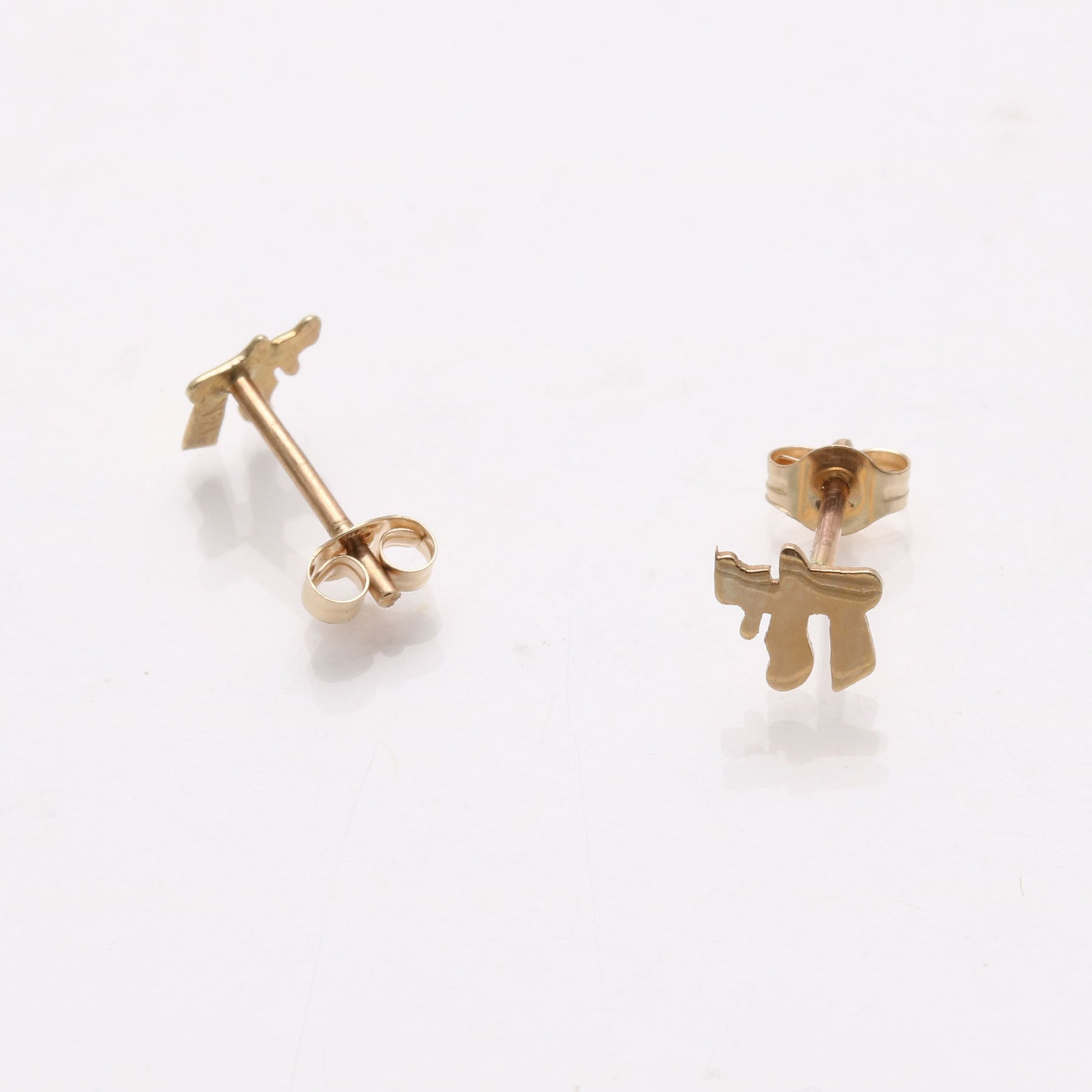 gold cross caymancode rose small stud earrings diamond