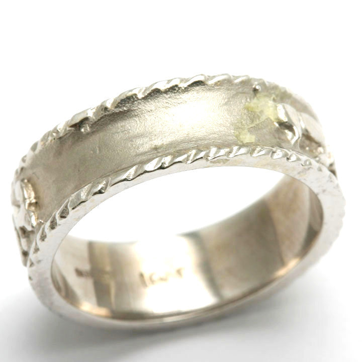14k white gold ani le dodi jewish wedding band ring ridge jewelryjudaica - Jewish Wedding Ring