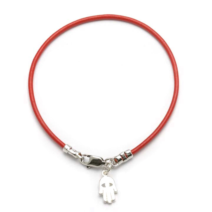 bracelet ebn studio leather salmon shop red