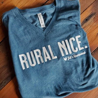 Rural Nice Jill's Homestead V-Neck T-Shirt