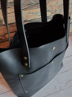 """The Tote"" Leather Handbag in Kodiak Black"