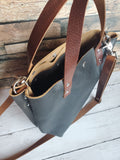 Shorty Tote Leather Handbag in Roadmaster Charcoal
