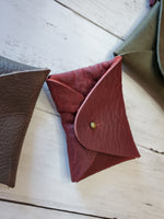 Mini Wallet Card Pouch - Smooth Leather