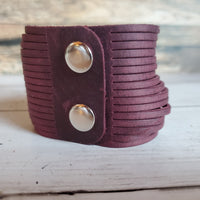 Leather Cuff Bracelets- 2 Inch