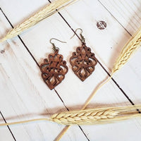 Chandelier Wood Earrings