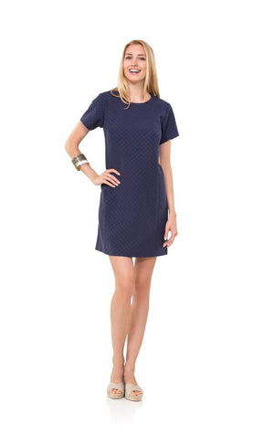 Dotted Up Shift Navy Dress