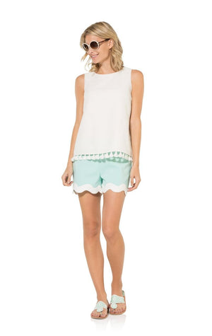 We Wear White: Top with Tassel