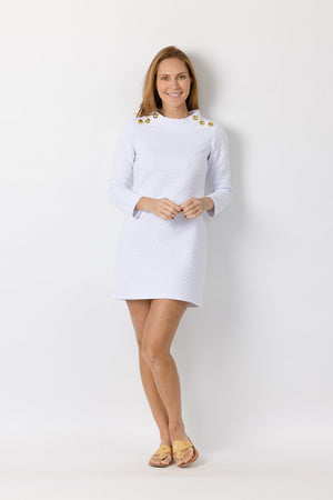 White Mock Neck Dress
