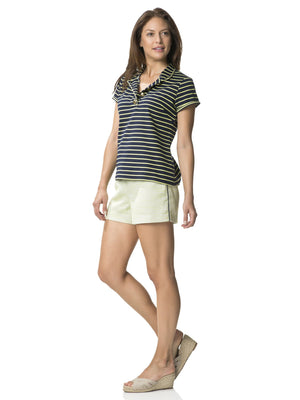 Singing Stripes Lime and Navy Shirt