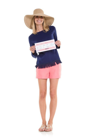 The Classic Linen Shorts Coral