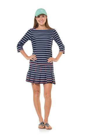 UPF 50 Long Sleeve Top (available in Navy, Bright Blue Stripes, or Hot Pink)