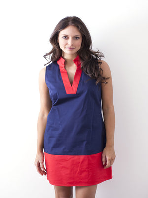Sun Blocked Navy/Red