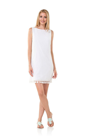 Swiss Dot Sleeveless with Tassel