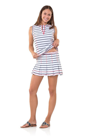 Stripe UPF 50 Active Skirt