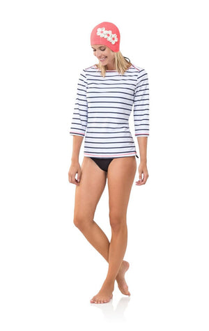 Striped UPF 50 Long Sleeve Top