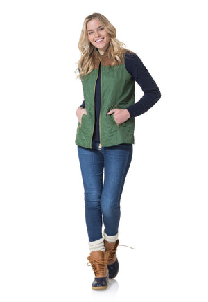 Quilted Vest Olive