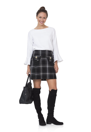 Black Plaid Skirt