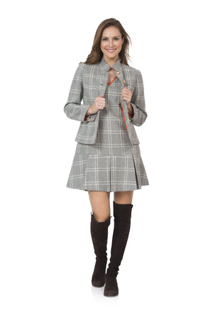 Wool Plaid Button front coat