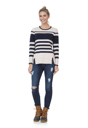 Variegated Stripe Sweater Top