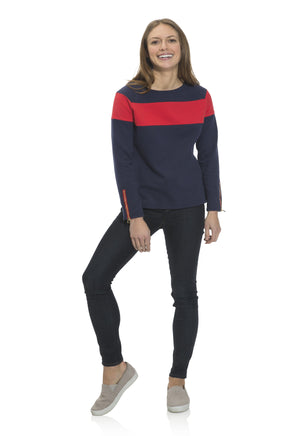 French Terry Crew Neck Top