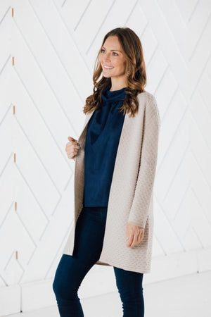 Drape Front Cardigan (Two Colors)