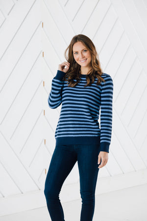 Long Sleeve Striped Sweater (Two Colors)