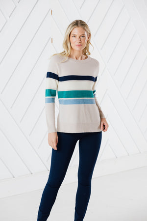 Long Sleeve Stripe Sweater (Two Colors)
