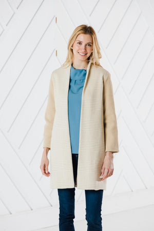 Drape Front Sweater Coat