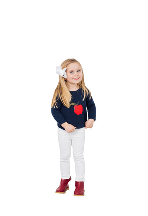 Kids Intarsia Sweater Apple