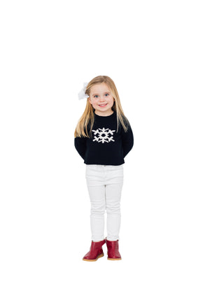 Kids Intarsia Sweater Snowflake