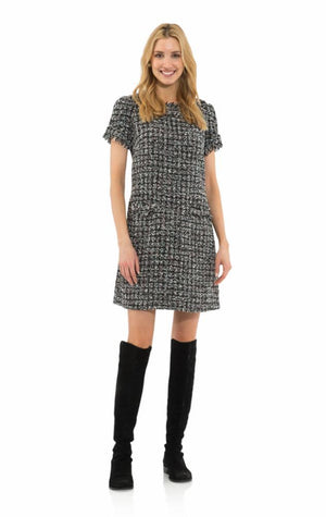 Chenille Tweed Short Sleeve Dress