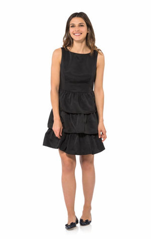 Taffeta Tiered Shirt Dress