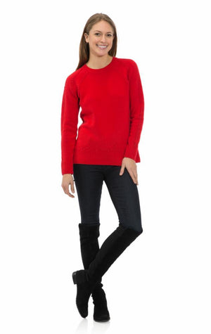 Pom Pom Sweater Red
