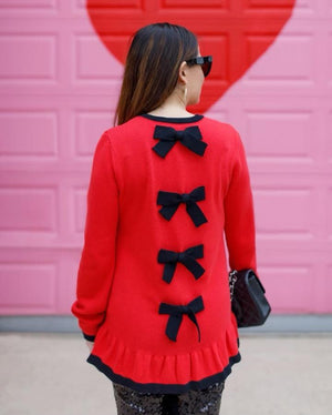 Faith Bow Back Sweater - Two Colors