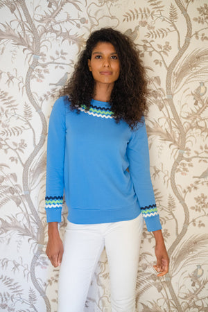 Marina Long Sleeve Sweatshirt with Ric Rac