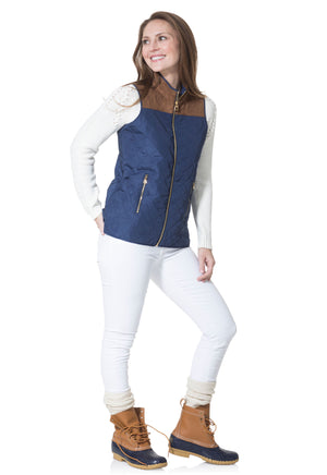 Quilted Vest Navy