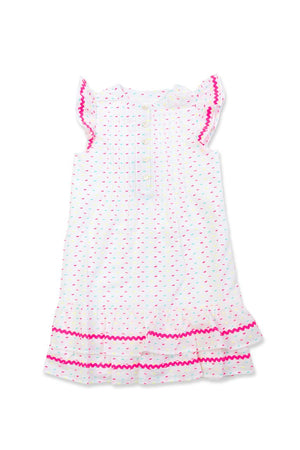 Little Ladies Funfilled Ruffle Hem Sleeveless Dress